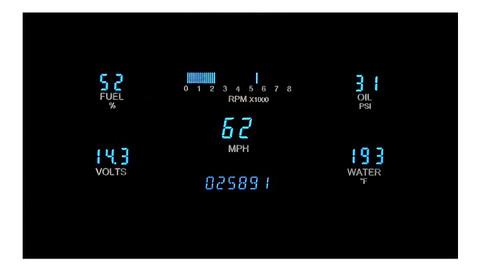 "Dakota Digital Dash Universal 5 Gauge Cluster for 3"" x 7"" Opening VFD3-1007"