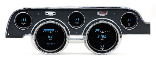 Dakota Digital 67 Ford Mustang 6 Gauge Dash Cluster w/ Camera Case Bezel VFD3-67M