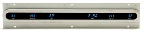 "Dakota Digital Dash Universal 6 Gauge Cluster 2"" x 19"" W Oval Bezel VFD3X-1002B"