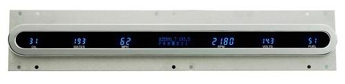 Dakota Digital Dash Universal 6 Gauge Cluster w/ Chrome Oval Bezel VFD3X-1002B-C