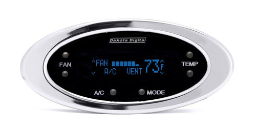 DCC-2300-C-B with CHROME bezel and BLUE display