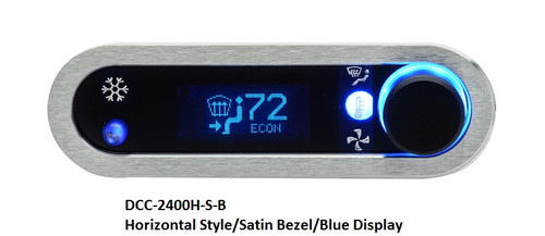 DCC-2400H-S-B with HORIZONTAL style, SATIN bezel and BLUE display