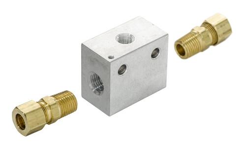Inline Transmission Temperature Sender Block, SEN-04-3 senders are sold separately