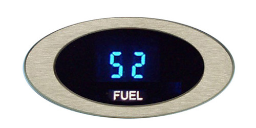 Dakota Digital ION Series Oval Satin or Chrome Bezel Fuel Level Gauge ION-06-1