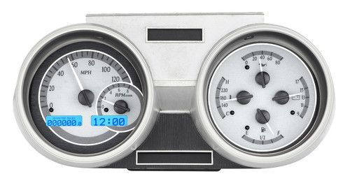 VHX-66O-CUT-S-B with SILVER ALLOY style and BLUE backlighting, bezel is NOT included