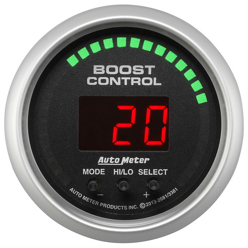 Auto Meter Sport Comp Digital Boost Controller Gauge 30 IN HG/30 PSI 3381