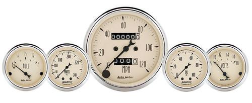 "AutoMeter Antique Beige 5 Piece Mechanical Gauge Kit 3-1/8"" & 2-1/16"" - 1811"