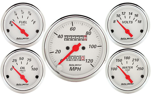 Arctic White 5 pc kit Mech Speedometer 1300