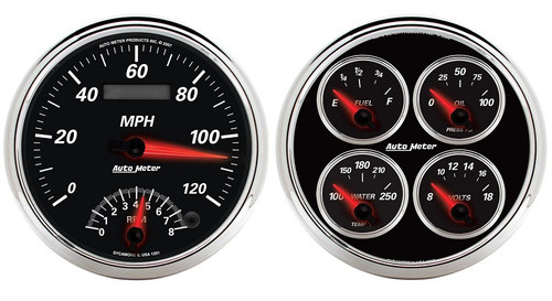 Designer Black II Gauge Kit, 1204