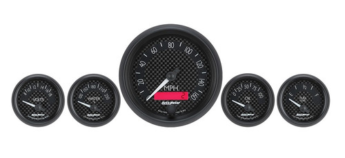 Auto Meter GT Series 5 Gauges Kit, Electric Speedometer 8002