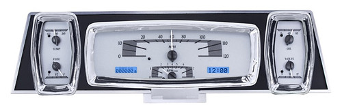 VHX-61L-S-B (silver alloy style/blue backlighting), bezel is NOT included, shown for illustrative purposes only