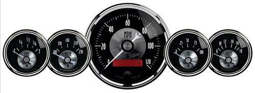 Auto Meter Prestige Black Diamond 5 pc Gauge Kit with LCD Odometer - 2001