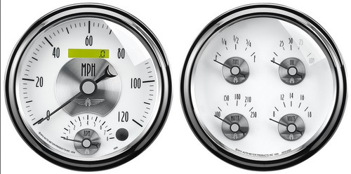 Auto Meter Prestige Pearl 2 pc Gauge Set 2008
