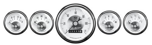 Auto Meter Prestige Pearl 5 pc Gauge Kit Wheel Odometer 2007