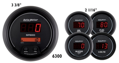 Auto Meter Sport Comp Digital 5 Gauge Kit 6300