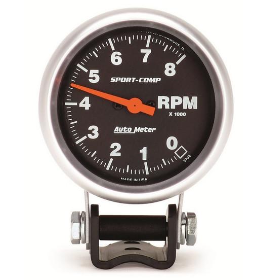 Auto Meter Sport Comp Pedestal Tachometer 3708