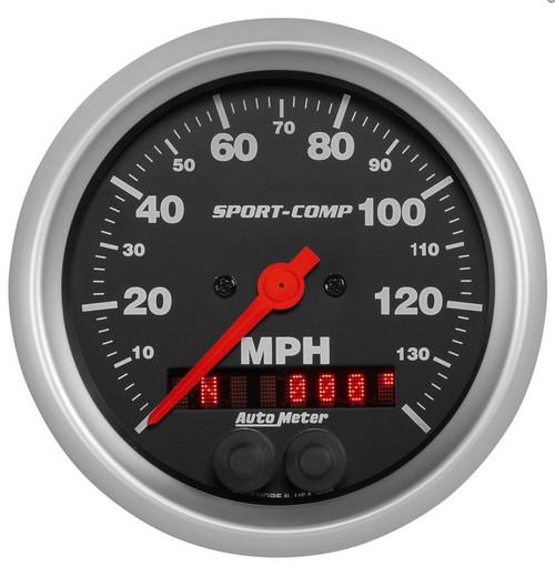 """Auto Meter Sport-Comp 3-3/8"""" GPS Speedometer Gauge 3982"""
