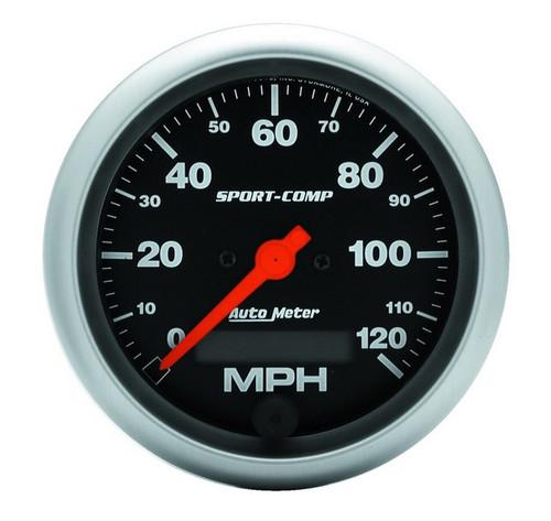 "Auto Meter Sport-Comp 3-3/8"" Speedometer 0-120 MPH - 3987"