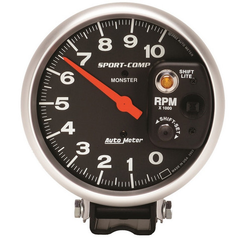 "Auto Meter Sport Comp 5"" Pedestal Tach Gauge 3903"