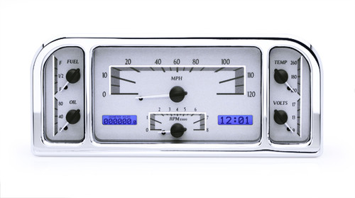 VHX-37F-S-B with SILVER ALLOY style and BLUE backlighting