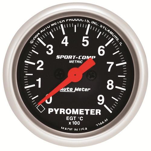 "Auto Meter Sport-Comp 2-1/16"" Pyrometer Gauge 0-900 °C - 3344-M"