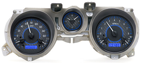 VHX-71F-MUS-C-B with CARBON FIBER style and BLUE backlighting, bezel and housing are NOT included