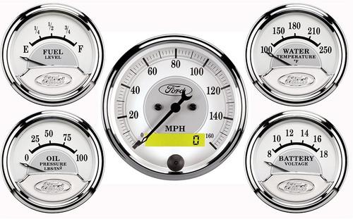 Ford Truck 48-50 1 X 3-1//8 Billet AutoMeter 7046 Dash Panel 4 X 2-1//16