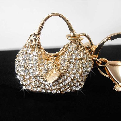 Crystal Handbag Keychain Purse Charm