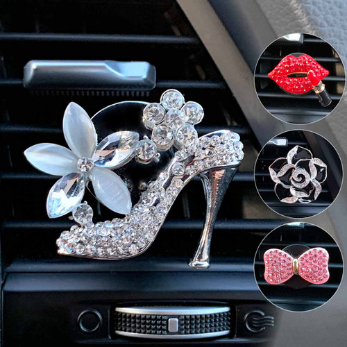 Bling High Heel,Bow, Roses Air Vent Clip
