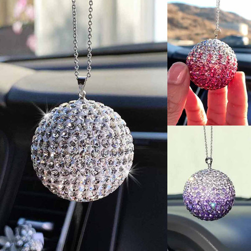 Crystal Ball Rear View Mirror Charm Ornaments