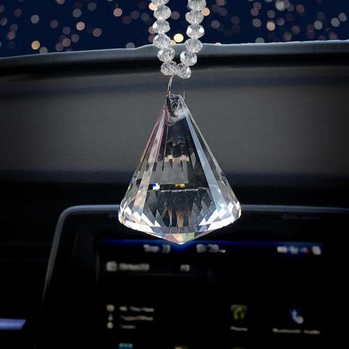 Crystal Diamond Rear view Mirror Charm