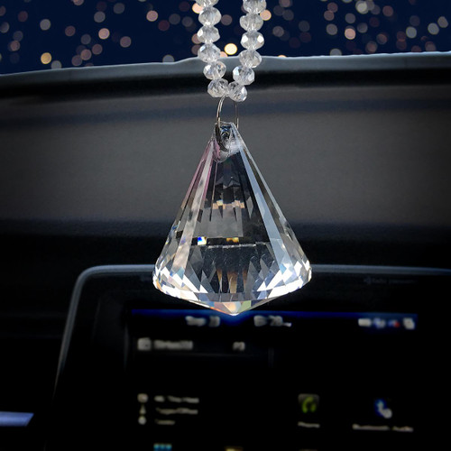 Crystal Diamond Rear view Mirror Charm