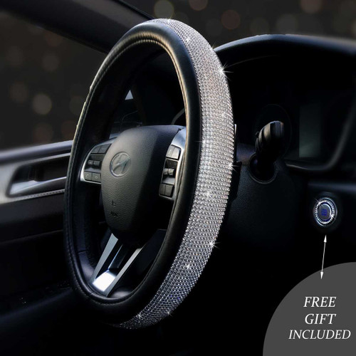 Bling Steering Wheel Covers w/Free Bling Ring Emblem