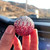 Pink Ombre Crystal Ball Rear View Mirror Charm Ornaments