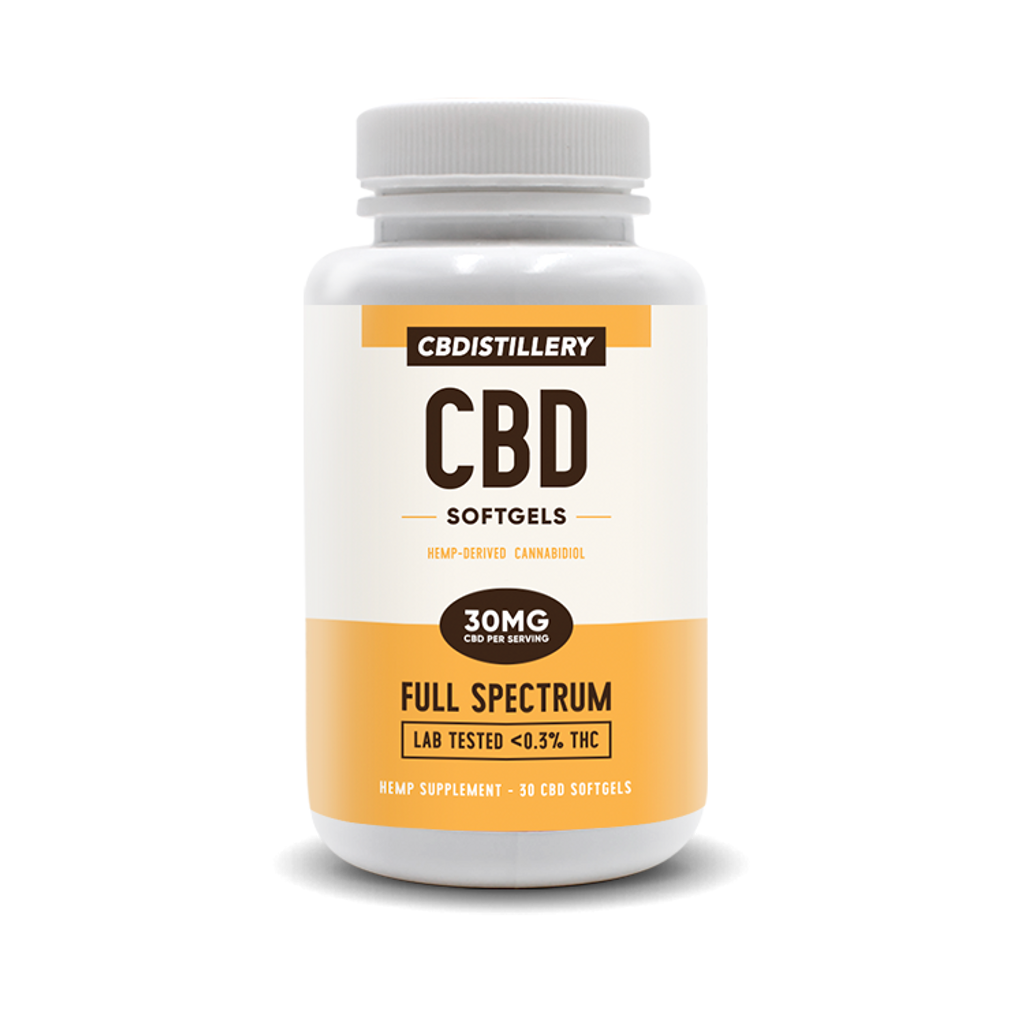 Full Spectrum CBDistillery Softgels and Capsules