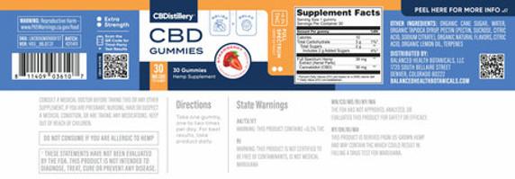 CBDistillery Full Spectrum CBD Gummies - 30ct 30mg Each