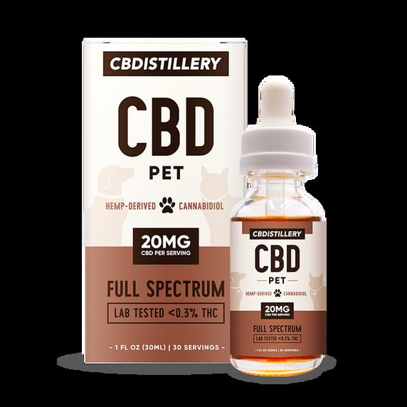 CBDistillery Full Spectrum Pet Tinctures-20 mg / 1 ml (600 mg / 30 ml)