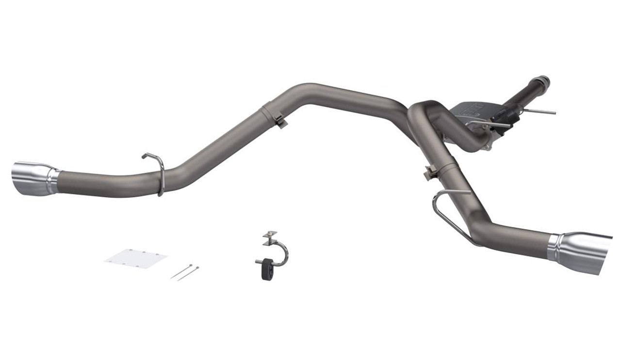 QTP Screamer 304SS Cat-Back Exhaust Rear Dual Side Exit (4 5