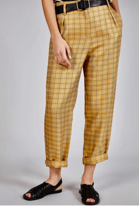 Yellow Plaid Pant