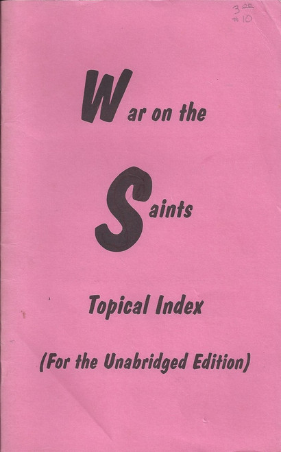 War on the Saints | Topical Index