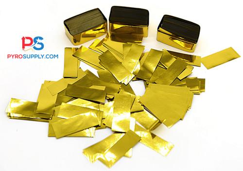"""2"""" Gold Metallic Mylar Confetti"""
