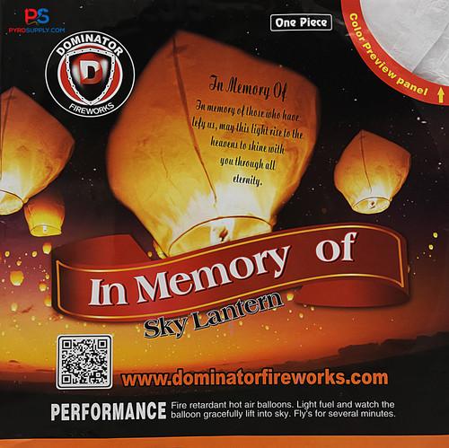 Sky Lantern In Memory