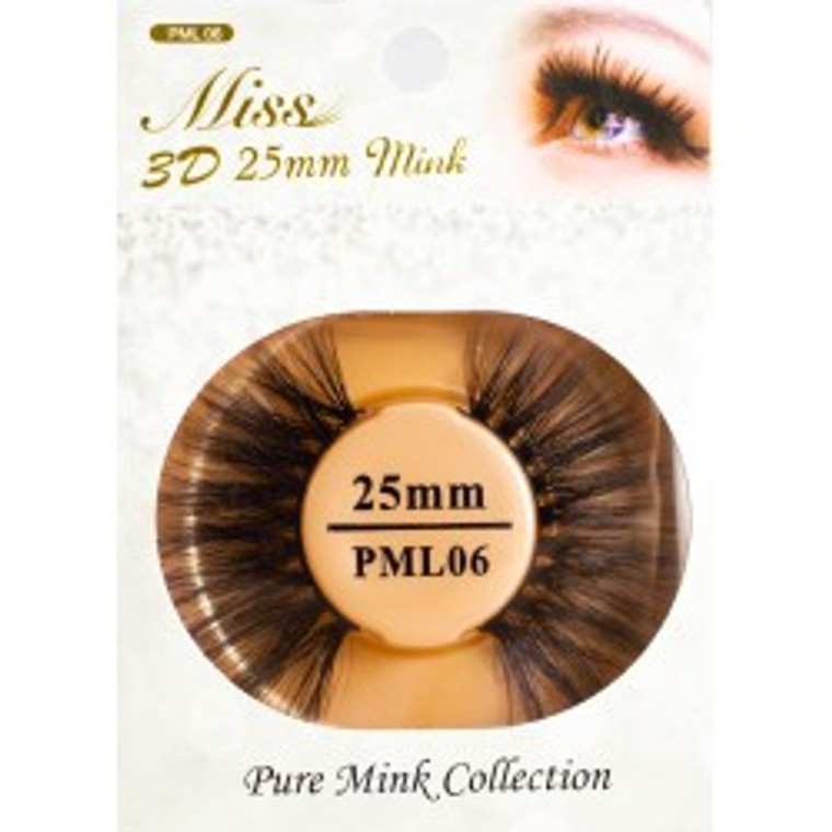 Miss 3D 25mm mink Lash - PML06