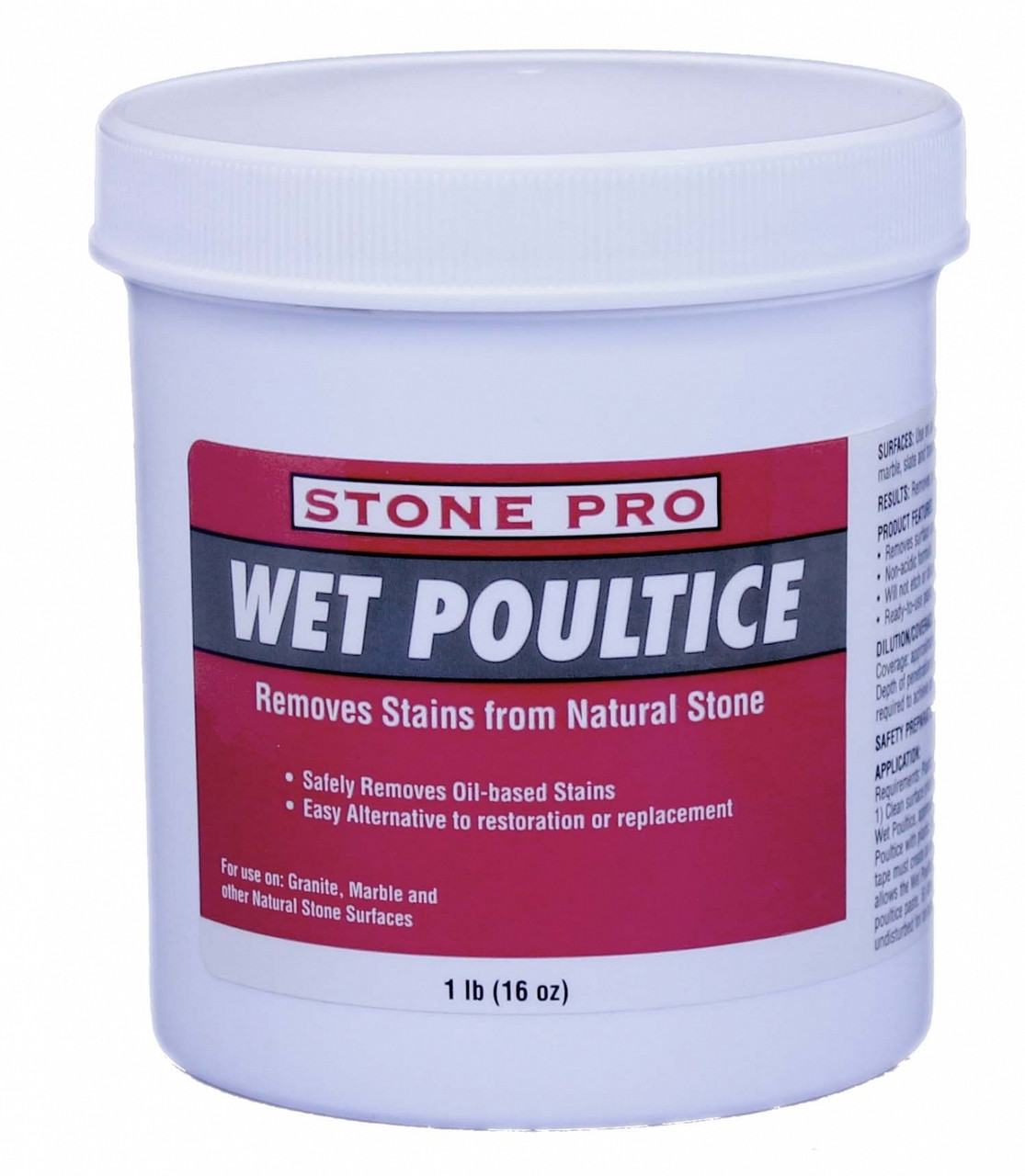 Concrete Stain Remover >> Stone Pro Wet Poultice Stain Remover