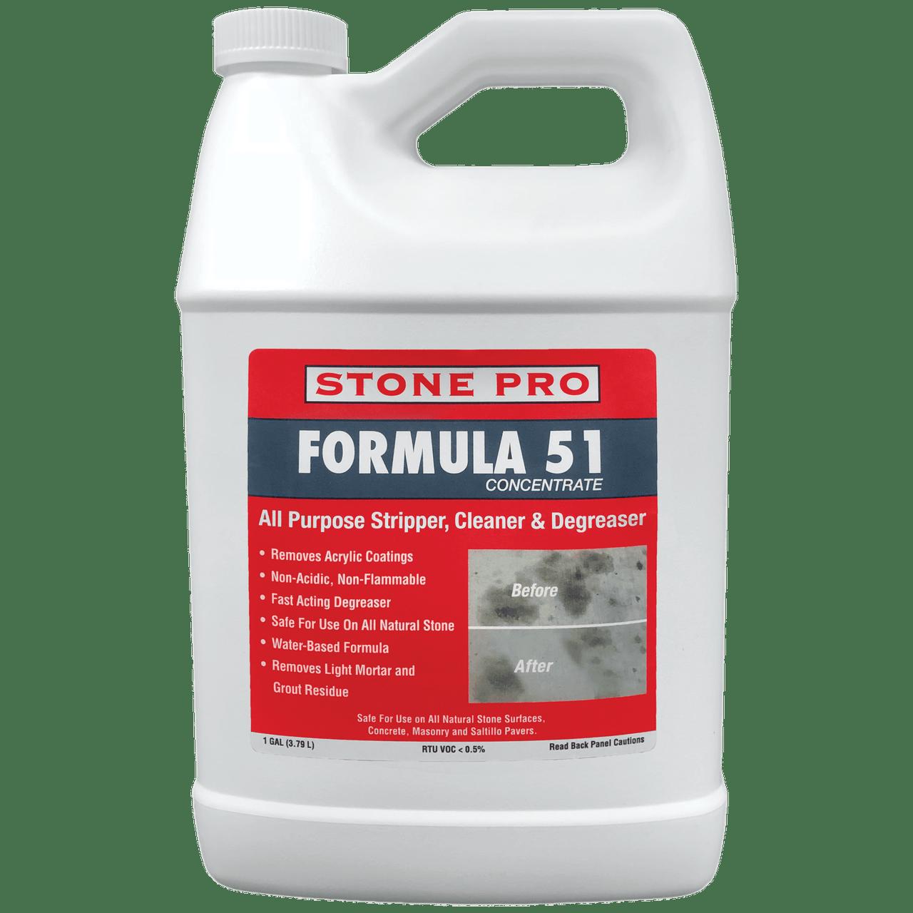 Concrete Stain Remover >> Stone Pro Formula 51 Stripper And Stain Remover