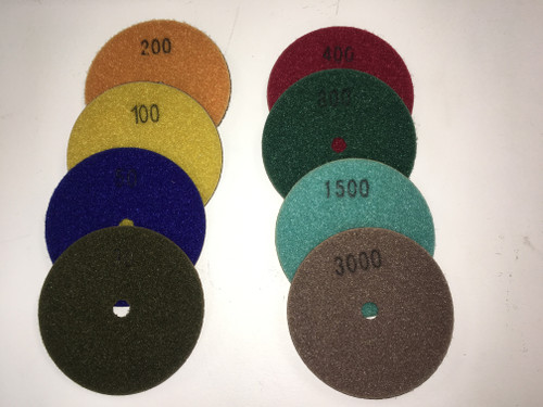 Sonic Diamond Polishing Pads for Granite Wet - Rocket Supply - Concrete and Stone Tool Supply Store