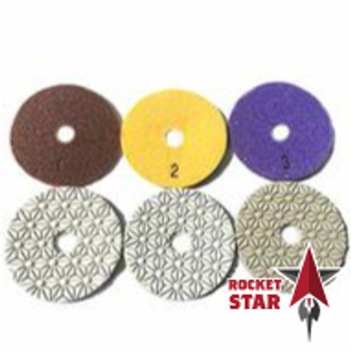Rocket STAR 3-Step Wet Engineered Stone and Granite Polishing Pads