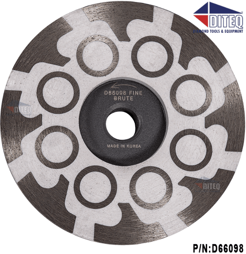 Diteq Brute 4 inch resin filled cup wheel fine grit