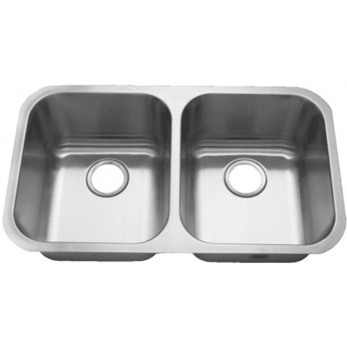 Rocket Supply 50/50 Double Bowl Stainless Steel Sink - 18 Gauge
