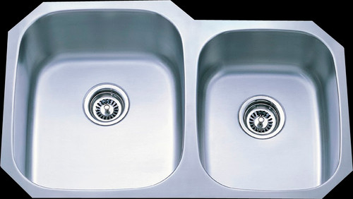 Rocket Supply 60/40 Double Bowl Stainless Steel Sink - 16 Gauge